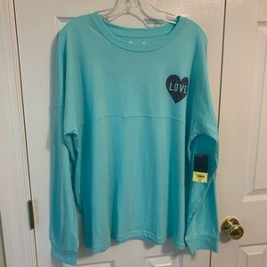 Xersion Love Long Sleeve Aruba Blue Sz 3X